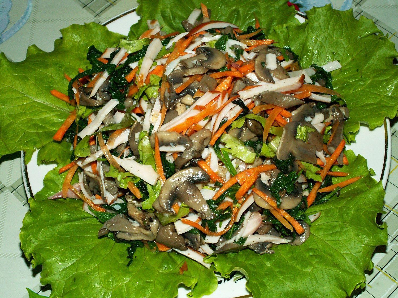 Как готовить вешенки для салатов