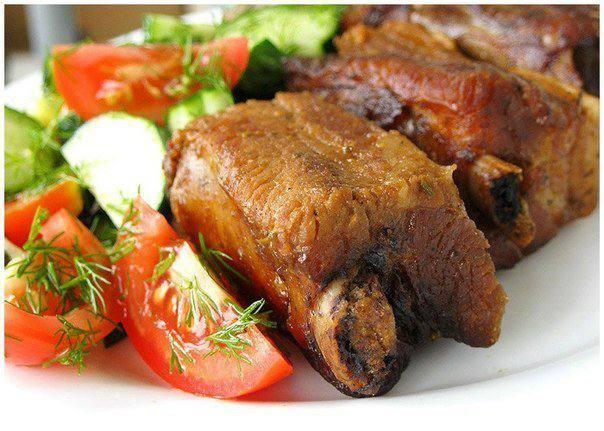 Готовим Мясо Свиные ребра в соево-горчичном маринаде