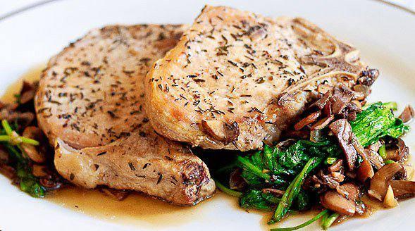 Готовим Мясо Свинина с грибами и рукколой