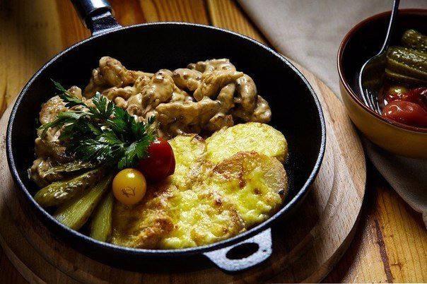 Готовим Мясо Фрикасе из курицы с картофелем