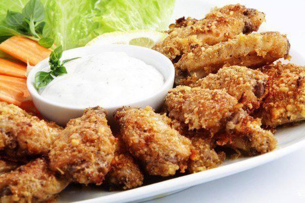 Готовим Мясо Куриные крылышки с сыром пармезан
