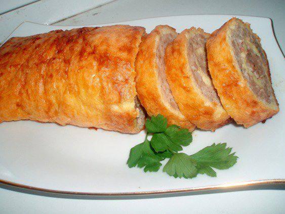 Готовим Мясо Куриный рулет с вермишелью