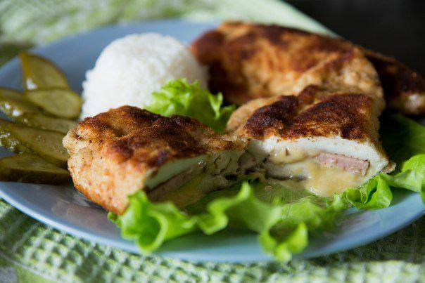 Готовим Мясо Куриный шницель «Кордон блю»