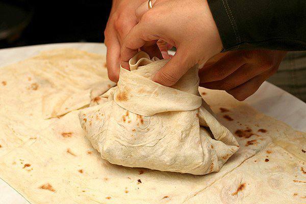 Рецепт Мясо в армянском лаваше шаг-8