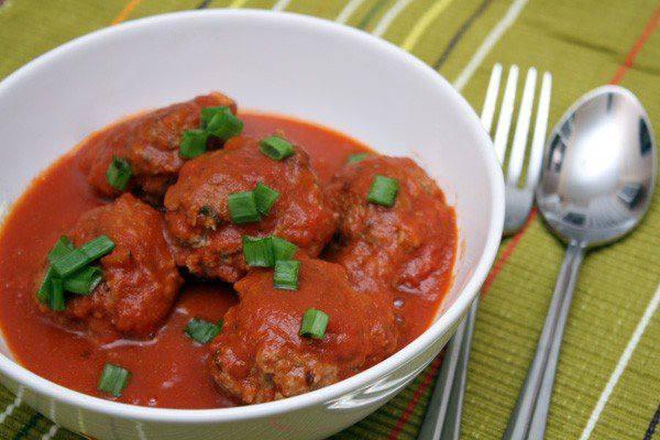 Готовим Мясо Тефтели в томатном соусе с мятой