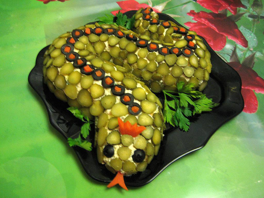 Рецепт змея салат