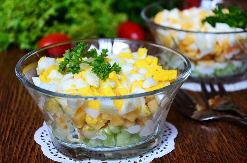 Салат из шампиньонов рецепт простой