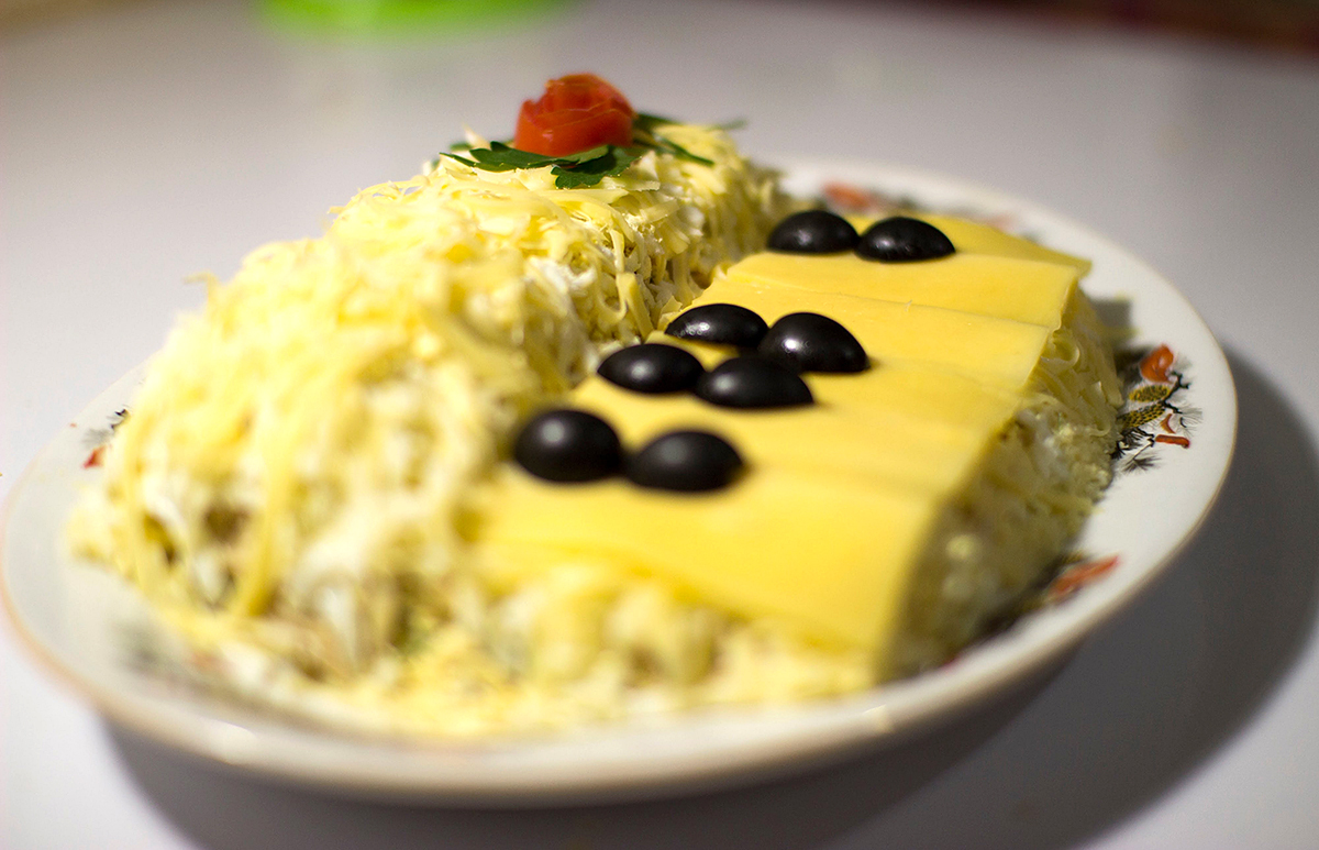 салат белый рецепты