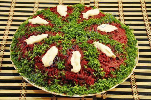 Салат из свеклы рецепт приготовления