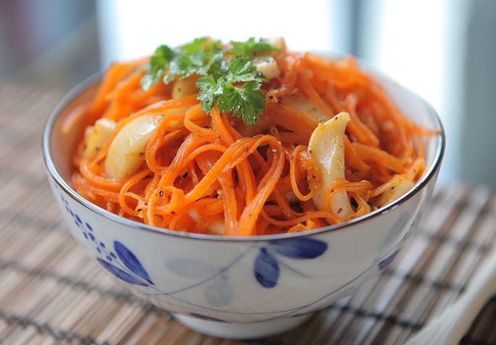 Салат вареная морковь