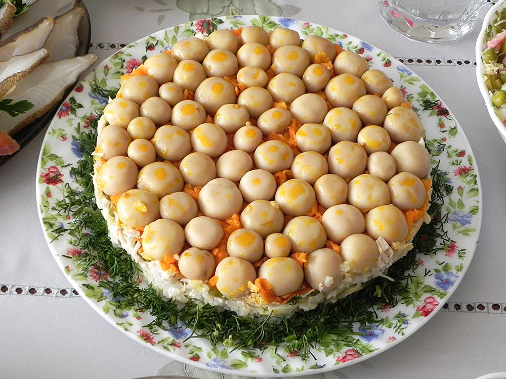 салаты рецепты с фото грибное лукошко
