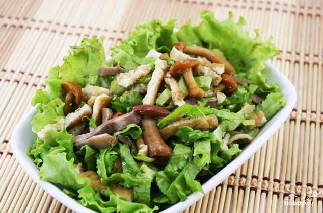 салат с грибами без майонеза рецепт