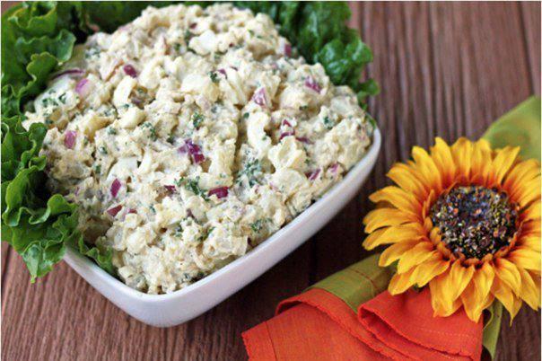 Готовим Салаты Картофельный салат с красным луком