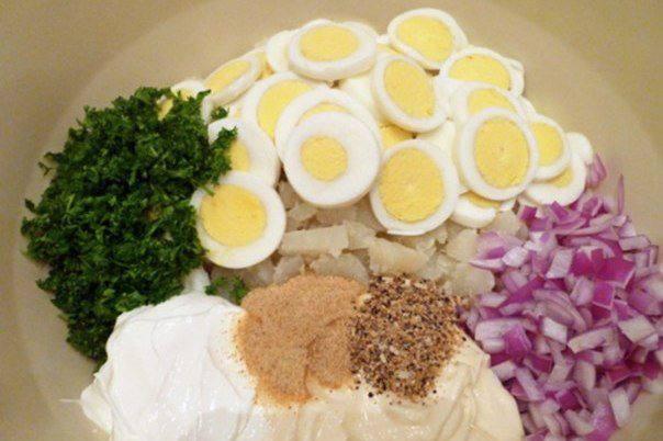 Рецепт Картофельный салат с красным луком шаг-3