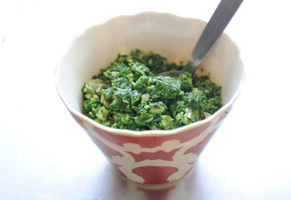 Рецепт Куриный песто салат со шпинатом шаг-1