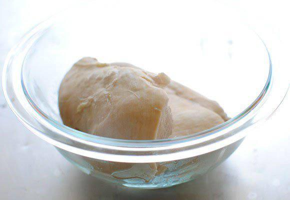 Рецепт Куриный песто салат со шпинатом  шаг-2
