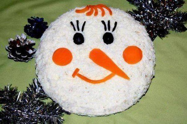 Готовим Салаты Салат «Снеговик»