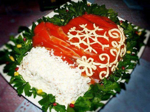 Готовим Салаты Салат «Варежка Деда Мороза»