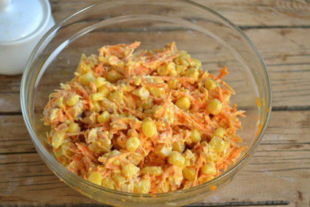 Готовим Салаты Салат из курицы с корейской морковкой