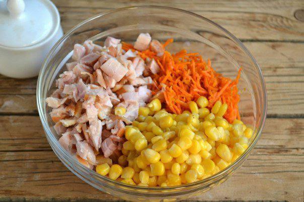 Рецепт Салат из курицы с корейской морковкой  шаг-2