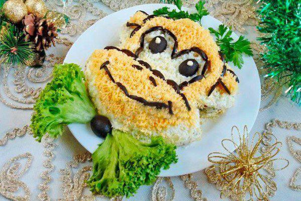 Готовим Салаты Салат из риса с рыбными консервами