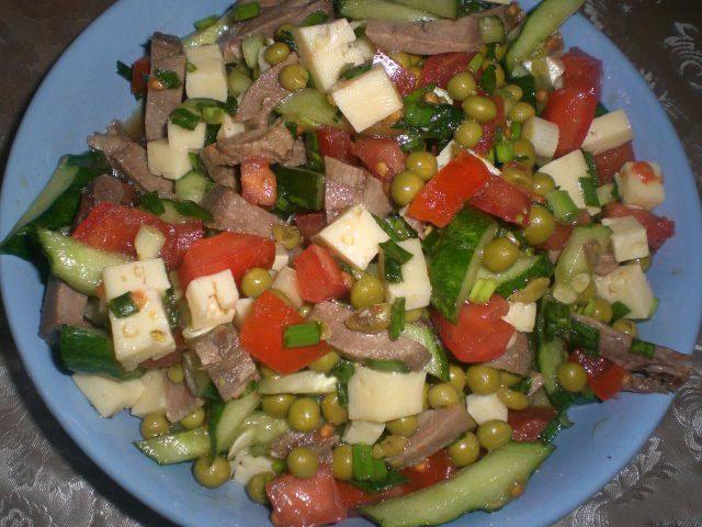 Простые салаты с языком рецепты простые и вкусные