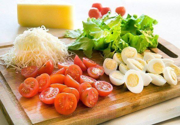 Рецепт Салат с креветками шаг-1