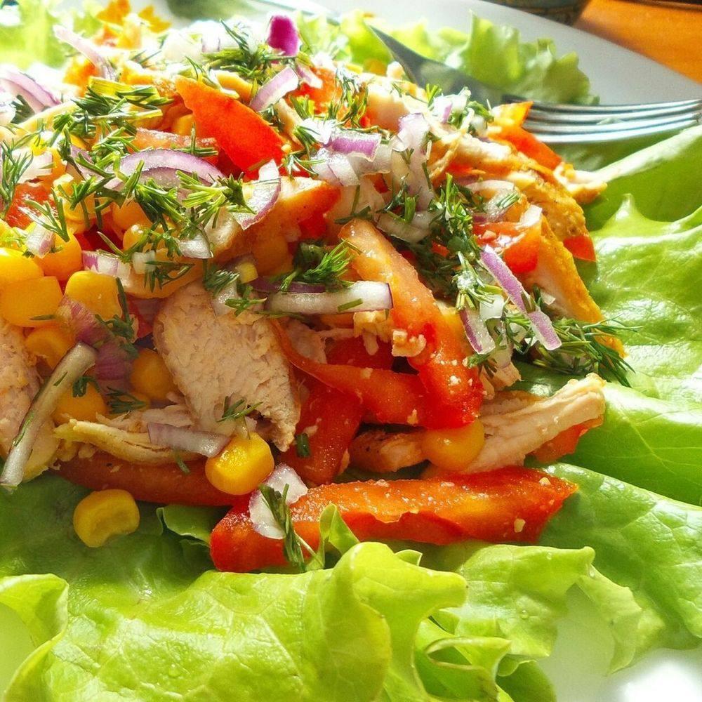 салаты из курицы рецепты с фото простые этой