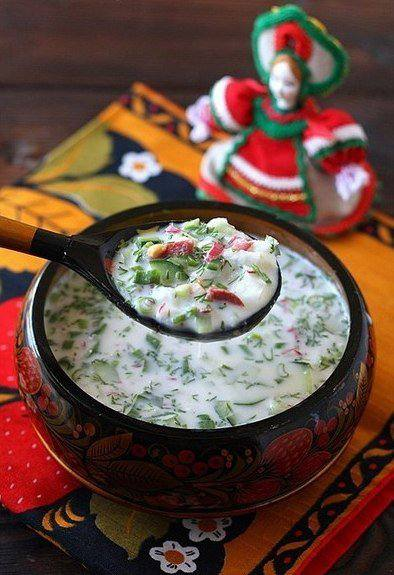 Готовим Супы Окрошка на кефире и газированной воде