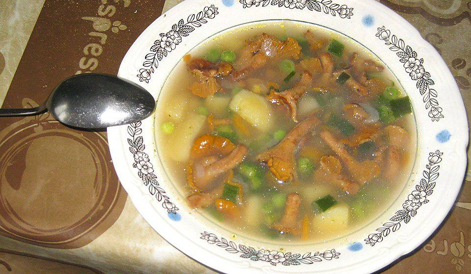 Грибной суп с лисичками рецепт пошагово