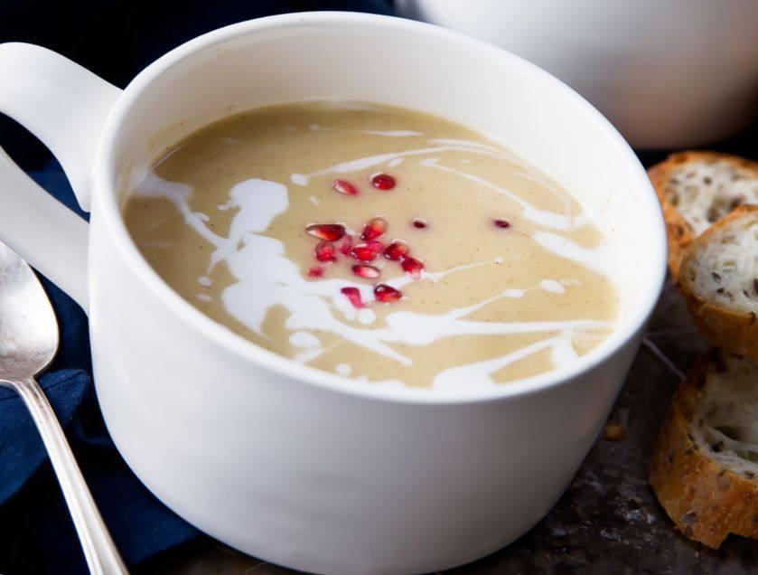 Готовим Супы Крем-суп с печёной тыквой и фасолью