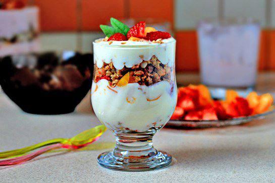 фруктовый десерт с йогуртом рецепты