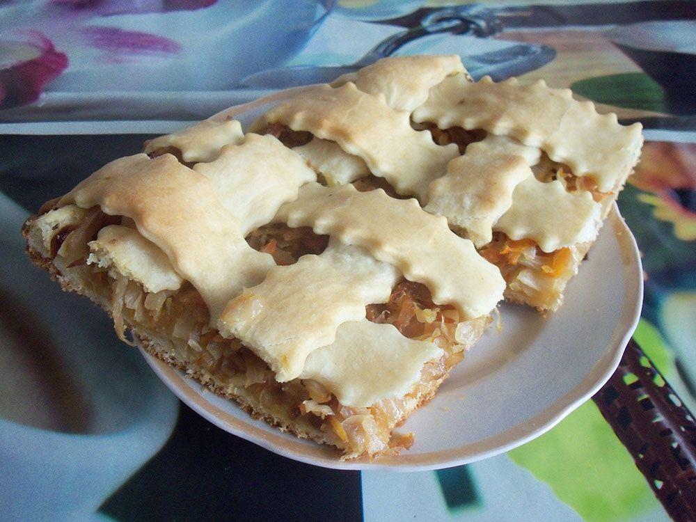 Капустный пирог на кефире без яиц рецепт