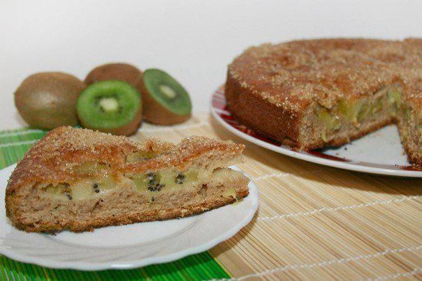 Готовим Выпечка Фруктовый пирог с киви