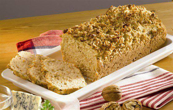 Готовим Выпечка Хлеб из феты с грецкими орехами