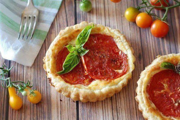 Готовим Выпечка Корзинки с томатами и рикоттой