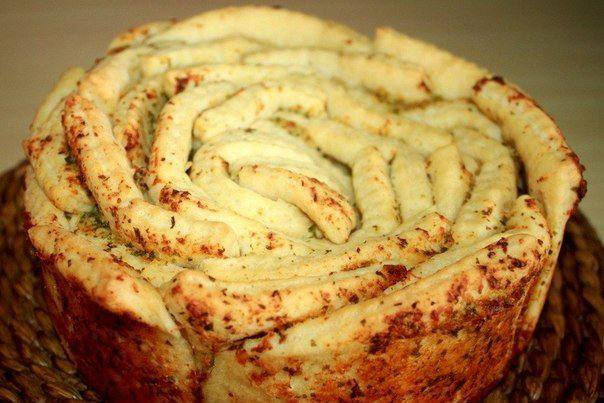 Готовим Выпечка Обезьяний хлеб с чесночным маслом