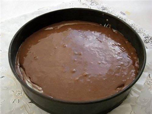 Рецепт Шоколадный пирог с творогом шаг-7