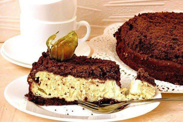 Готовим Выпечка Шоколадно-творожный пирог