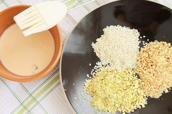 Рецепт Сырное печенье с орехами и кунжутом шаг-5