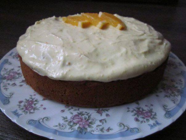 Рецепт Тыквенный пирог под цитрусовым кремом шаг-7