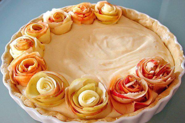 Рецепт Яблочный пирог с розочками шаг-1