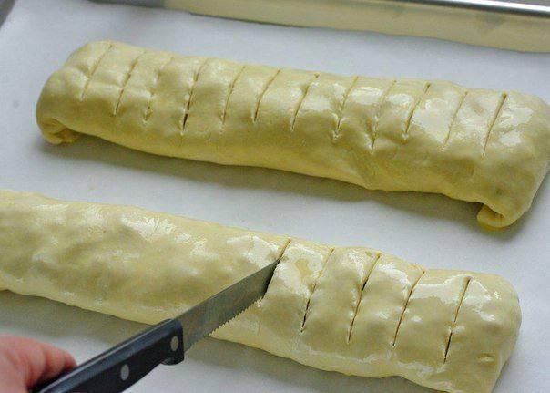 Рецепт Яблочный штрудель с орехами  шаг-4