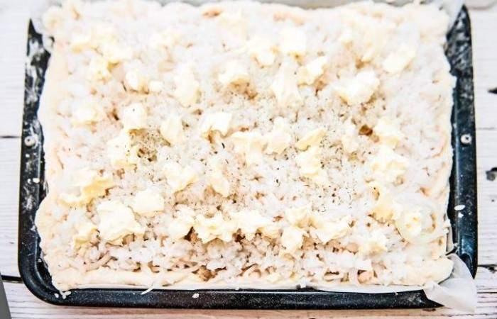 Рецепт Рыбный пирог с рисом из дрожжевого теста шаг-12
