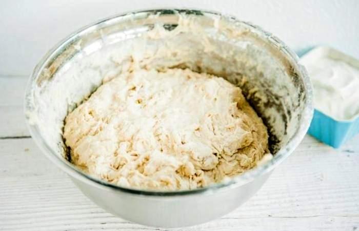 Рецепт Рыбный пирог с рисом из дрожжевого теста шаг-3