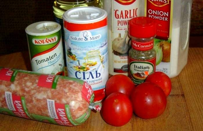 Рецепт Гамбургер из помидоров шаг-1