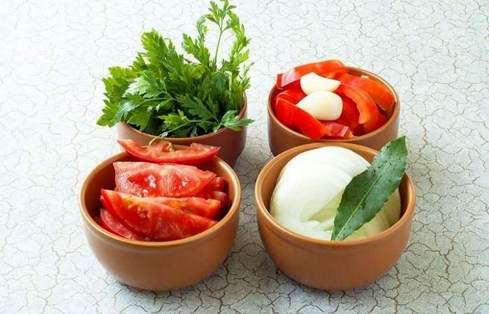 Рецепт Овощной салат из баклажанов шаг-3