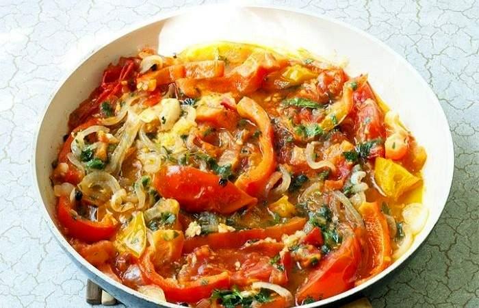 Рецепт Овощной салат из баклажанов  шаг-4