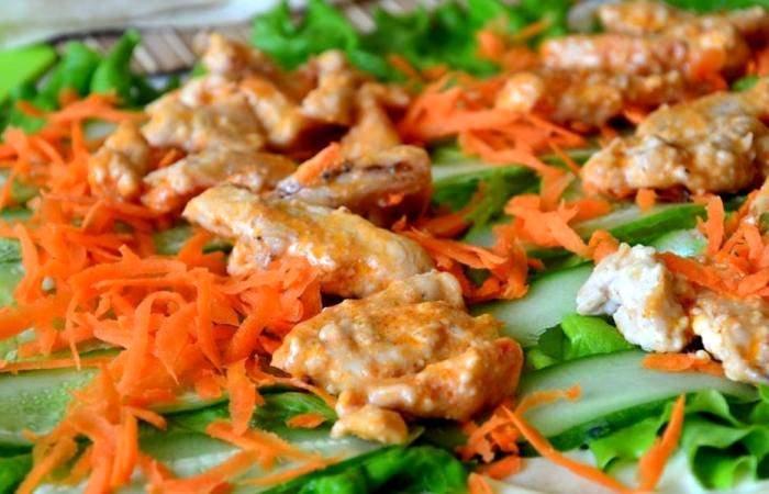 Рецепт Шаурма с морковью и курицей шаг-5