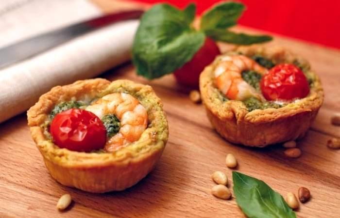 Рецепт Тарталетки с соусом песто и креветками шаг-11